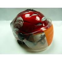 """motoserp.ru - Шлем открытый байк со стеклом COBRA """"Light"""" (318) летний  (шт)  (MM 17375 - МотоВелоЦентр г.Серпухов"""
