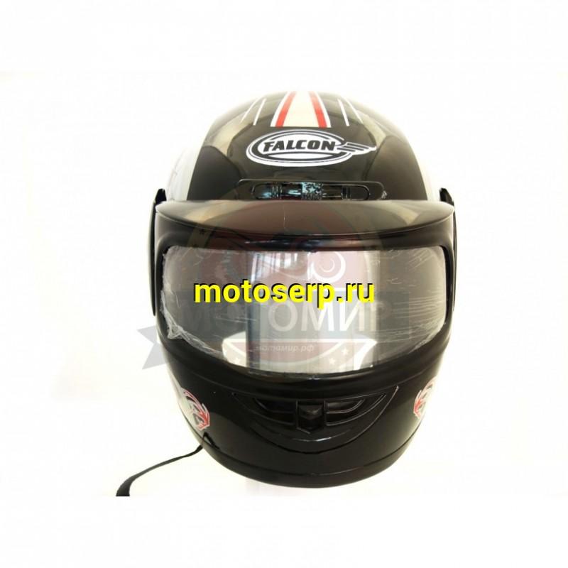 Купить  Шлем закрытый FALCON XZF01 2 визора простой и усиленный (интеграл)  (шт) (MM 93602 купить с доставкой по Москве и России, цена, технические характеристики, комплектация - motoserp.ru