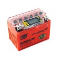 """motoserp.ru - Аккумулятор 12в  4а (114x71x88) гелевый """"OUTDO"""" оранжевый, с индикатором заряда, вольтметром (шт) (MT A-1160 - МотоВелоЦентр г.Серпухов"""