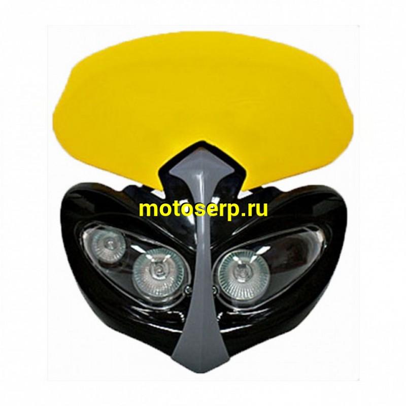 Купить  Фара универсальная стрит морда JAUNE 30273 (шт) JP купить с доставкой по Москве и России, цена, технические характеристики, комплектация - motoserp.ru