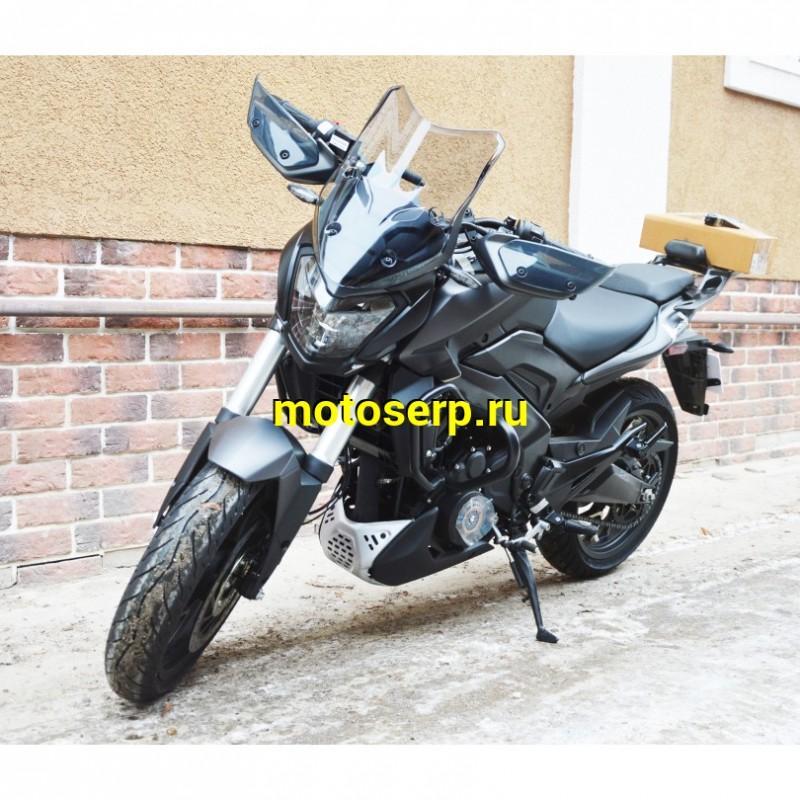 Купить  Мотоцикл BAJAJ DOMINAR D 400 (Доминар 400) нейкид (2018г) 390cc; ABS; 6 ск; 35л/с, двигатель КТМ DUKE; 4 клапана; жидк.охлаж; 3 свечи на цилиндр (шт) купить с доставкой по Москве и России, цена, технические характеристики, комплектация - motoserp.ru