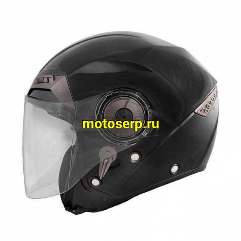 Купить  Шлем открытый байк со стеклом THH T-314 SOLID с встроенными очками, цвет Черный, Размер 2XL 31-05970  (шт) JP купить с доставкой по Москве и России, цена, технические характеристики, комплектация - motoserp.ru