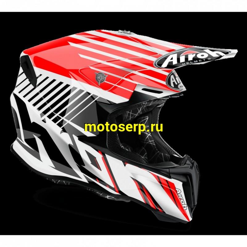 Купить  Шлем Кросс AIROH TWIST STRANGE RED GLOSS L JP (шт) купить с доставкой по Москве и России, цена, технические характеристики, комплектация - motoserp.ru