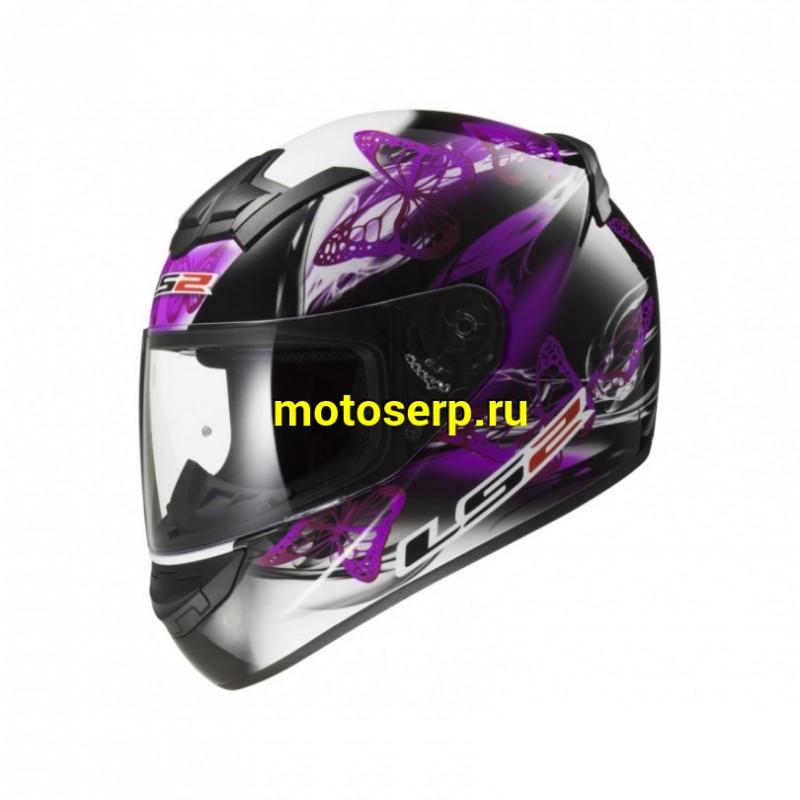 Купить  Шлем закрытый LS2 FF352 FLUTTER BLACK PURPLE  интеграл (шт) купить с доставкой по Москве и России, цена, технические характеристики, комплектация - motoserp.ru