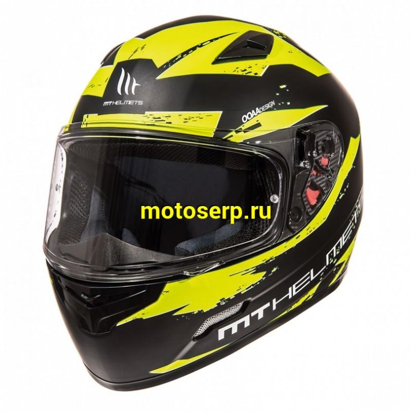 Купить  Шлем закрытый MT MUGELLO MATT BLACK FLUOR YELLOW (шт) (Мир Моторов купить с доставкой по Москве и России, цена, технические характеристики, комплектация - motoserp.ru