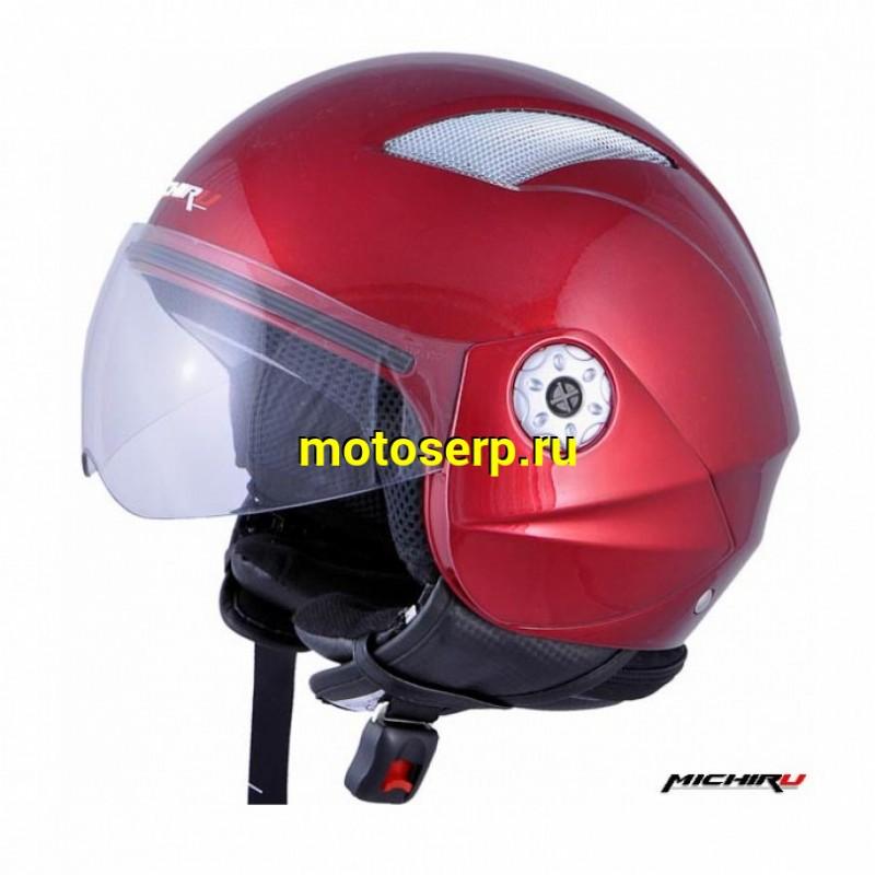 Купить  Шлем открытый байк со стеклом MICHIRU MO 130 Cherry, BLACK (шт)  (IR 4620770793108 (IR 4620770793184 (IR 46207700793177 купить с доставкой по Москве и России, цена, технические характеристики, комплектация - motoserp.ru