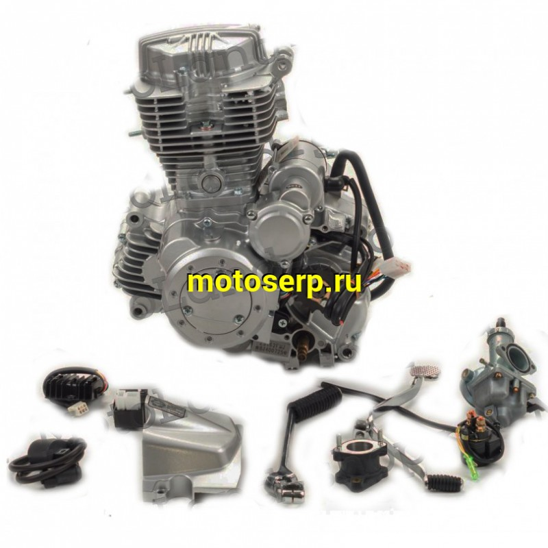 Купить  Двигатель  в сб. 150cc 162FMJ (CG150-B) 4Т, мех 4ск, нижн р/в, (БАЛАНСИР) (шт)  (ML 9736 купить с доставкой по Москве и России, цена, технические характеристики, комплектация - motoserp.ru