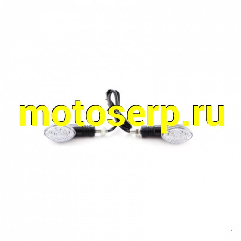 Купить  Поворотники светодиодные (компл. 2шт) SM-PARTS  SMP-18 черные (SM 020246-776-1981 купить с доставкой по Москве и России, цена, технические характеристики, комплектация - motoserp.ru