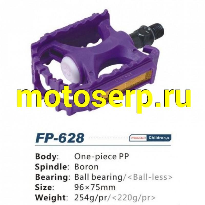 """Купить  педали бренд """"VORON"""" FP-628, пластик, ось из бористой стали, шариковый подшипник, резьба 9/16, размер 96х75мм, с отражателем (TAT 10000499 купить с доставкой по Москве и России, цена, технические характеристики, комплектация - motoserp.ru"""